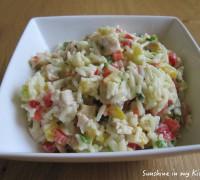 Rijstsalade met kip en cashewnoten