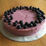 Citroen blauwe bessen cake