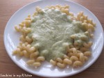 Courgettesaus voor over de pasta
