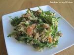 Bulgur salade met geroosterde courgette & gerookte zalm