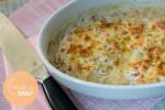 Tilapia-filet met boursin uit de oven